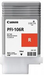 Canon 130mL Red Ink Tank Cartridge - PFI-106R (MPN: 6627B001AA)