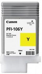 Canon 130mL Yellow Ink Tank Cartridge - PFI-106Y (MPN: 6624B001AA)