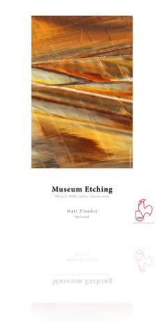 Hahnemuhle Museum Etching 308 gsm Deckle Edge - 25 sh/pk - Sheets
