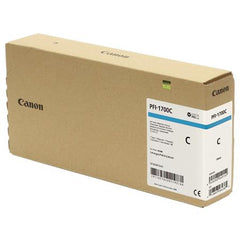 Canon Pro PFI-1700C Lucia Cyan Pigment Ink Tank - 700ml for Canon Pro-2000/4000/6000. (MPN: 0776C001AA)