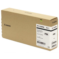 Canon Pro PFI-1700PBK Lucia Photo Black Pigment Ink Tank - 700ml for Canon Pro-2000/4000/6000. (MPN: 0775C001AA)