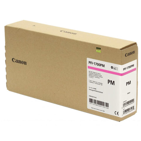 Canon Pro PFI-1700PM Lucia Photo Magenta Pigment Ink Tank - 700ml for Canon Pro-2000/4000/4000S/6000. (MPN: 0780C001AA)