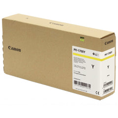 Canon Pro PFI-1700Y Lucia Yellow Pigment Ink Tank - 700ml for Canon Pro-2000/4000/6000. (MPN: 0778C001AA)