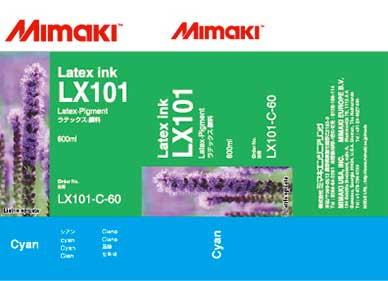 Mimaki LX-101 Latex Cyan ink 600ml (MPN: LX101-C-60)