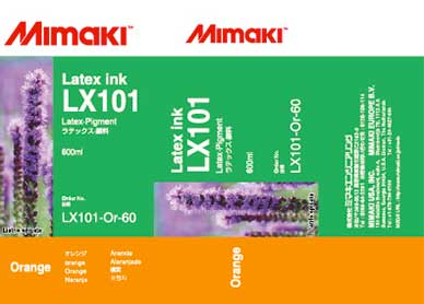 Mimaki LX-101 Latex Orange ink 600ml (MPN: LX101-Or-60)