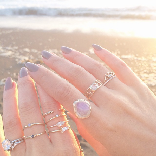 Misa Jewelry Moonstone Cove Ring on Moonstone Beach.