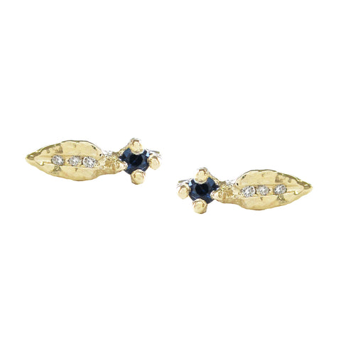 Sprout Sapphire Studs