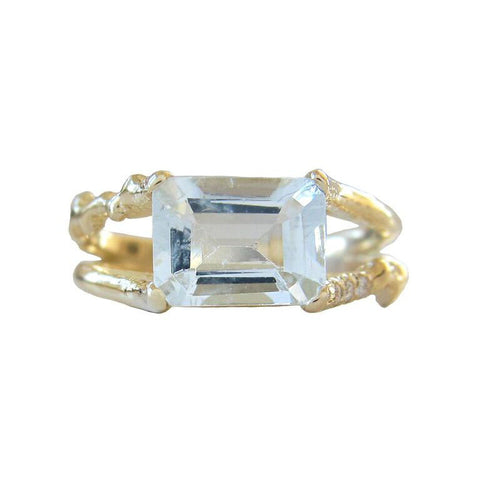 Aquamarine Floating Ring