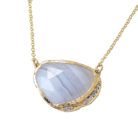 Blue Lace Agate Hidden Cove Necklace