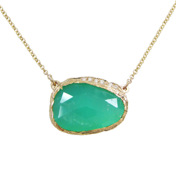 Chrysoprase Hidden Cove Necklace