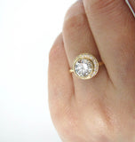Crescent Diamond Ring 1.05cts