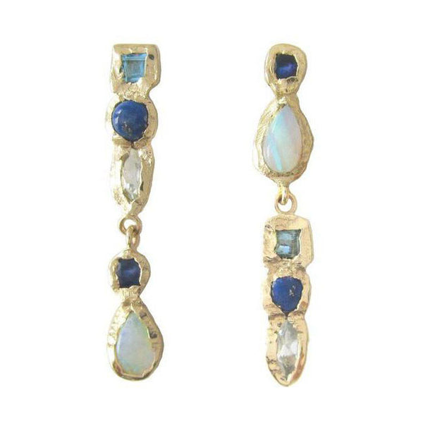 Waterfall Lapis Earrings