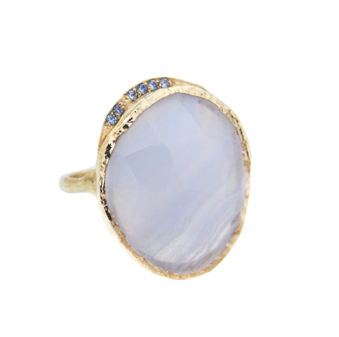 Blue Lace Agate Hidden Cove Ring