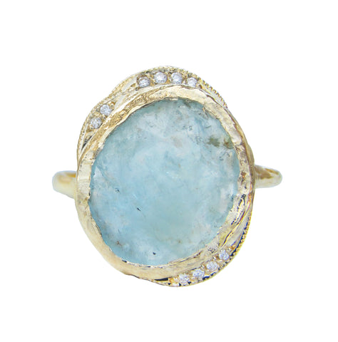 Aquamarine Hidden Cove Ring