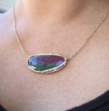 Ruby Zoisite Hidden Cove Necklace
