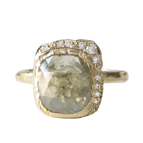 Rustic Diamond Reflection Ring