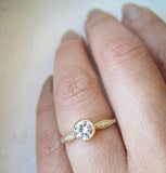 Wave Solitaire Ring