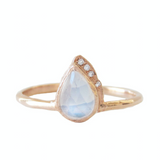 Raindrop Moonstone Ring