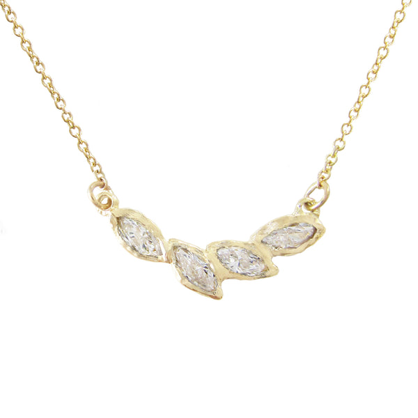 Petal Diamond Necklace