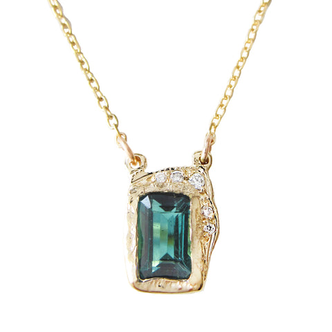 Reflection Green Tourmaline Necklace