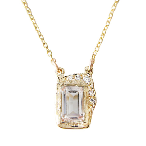 Reflection Morganite Necklace