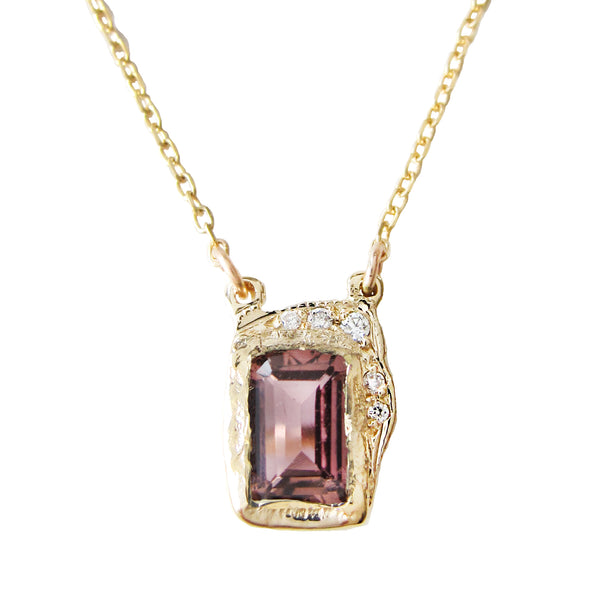 Reflection Pink Tourmaline Necklace
