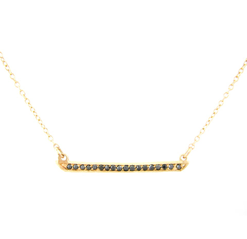 Horizon Black Diamond Necklace