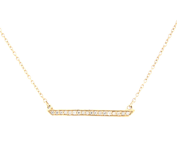 Horizon White Diamond Necklace