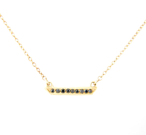 Mini Horizon Black Diamond Necklace