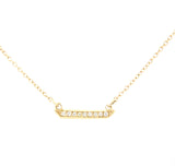 Mini Horizon White Diamond Necklace
