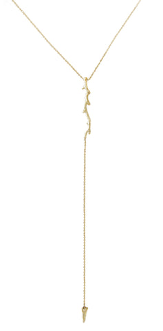 Twig Lariat Necklace