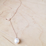 Oyster Lariat Necklace