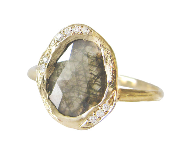 Diamond Slice Cove Ring