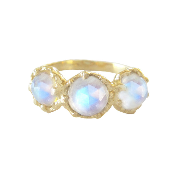 Haku Lei Moonstone Ring