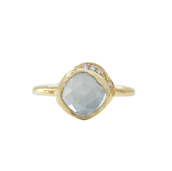 Mini Cove Aquamarine Ring