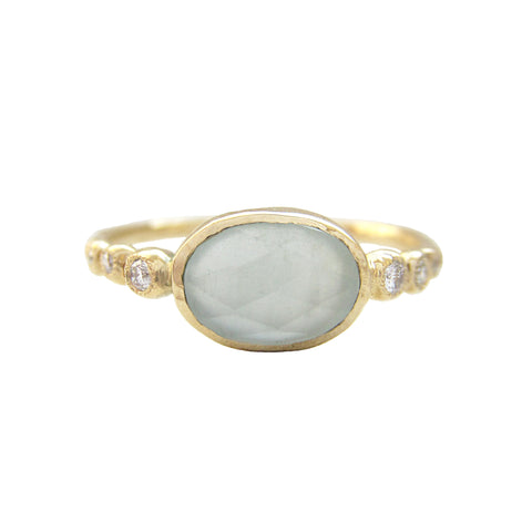 Freshwater Aquamarine Ring