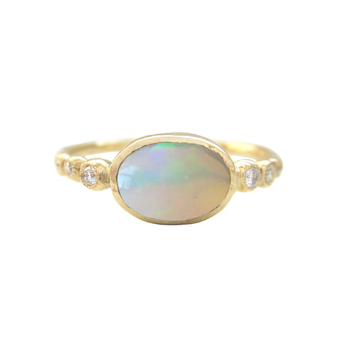 Freshwater Opal Ring