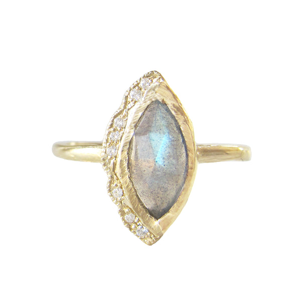 Native Labradorite Ring