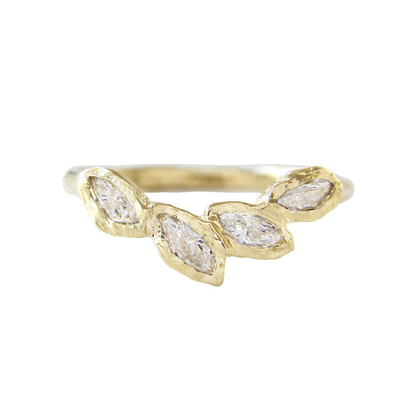 Petal Diamond Ring