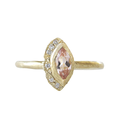 Petite Native Morganite Ring