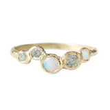 Effervescence Opal + Green Sapphire Ring