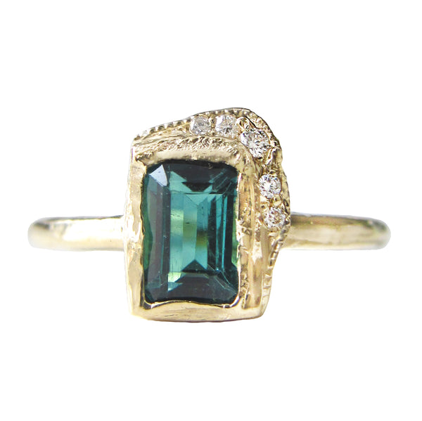 Reflection NS Green Tourmaline Ring