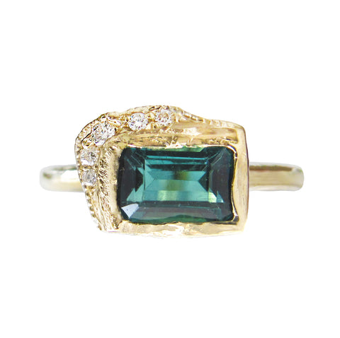 Reflection EW Green Tourmaline Ring