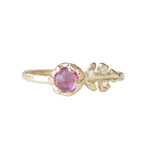 Floret Pink Sapphire Ring