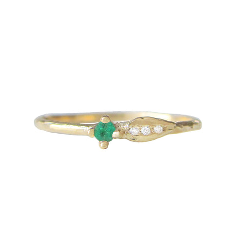 Sprout Emerald Ring