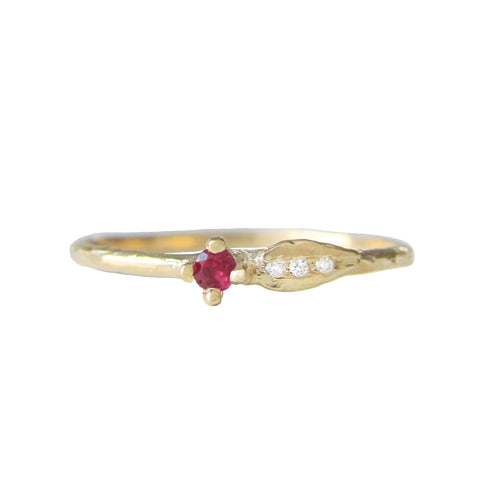 Sprout Ruby Ring