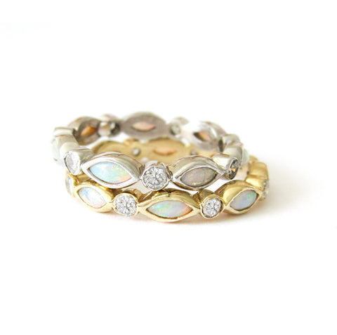 Opal Eternity Ring
