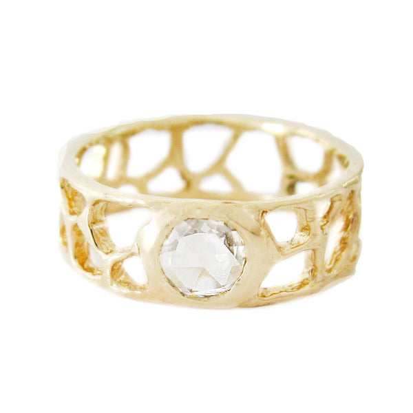 Shima Reef Rosecut Diamond Ring