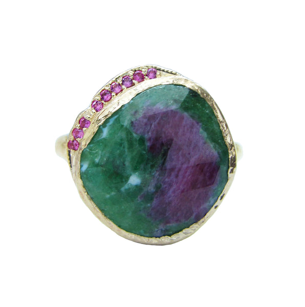 Ruby Zoisite Hidden Cove Ring