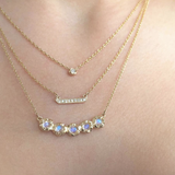 Stardust Floating Diamond Necklace